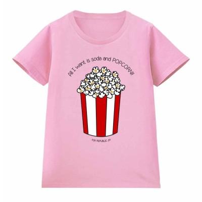 【私がほしいのは ソーダ と ポップコーン !】レディース 半袖 Tシャツ by Fox Republic