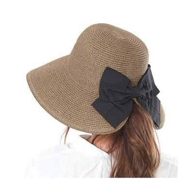 TRAX SHOP 髪を結んだままかぶれる帽子麦わら帽子 帽子 レディース uv 折りたたみ あご紐 あごひも ペーパー ハット 春 夏 春
