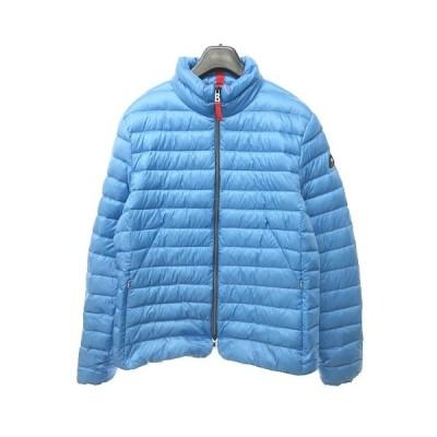 【中古】ファイヤー+アイス FIRE+ICE ダウンジャケット ダウンコート 水色 赤 44 XL 0614 NVW レディース 【ベクトル 古着】