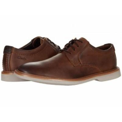 Clarks クラークス メンズ 男性用 シューズ 靴 オックスフォード 紳士靴 通勤靴 Atticus LT Lace Dark Tan Leather【送料無料】