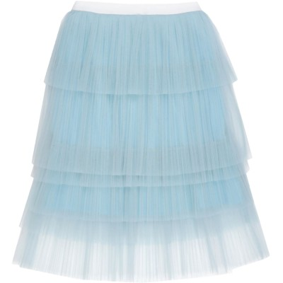 GIORGIO GRATI 7分丈スカート スカイブルー 42 ナイロン 100% 7分丈スカート