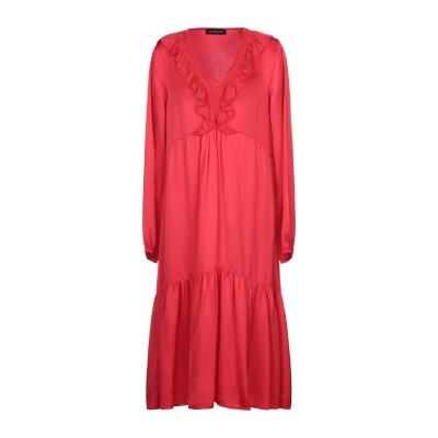VANESSA SCOTT 7分丈ワンピース・ドレス レッド S ポリエステル 100% 7分丈ワンピース・ドレス