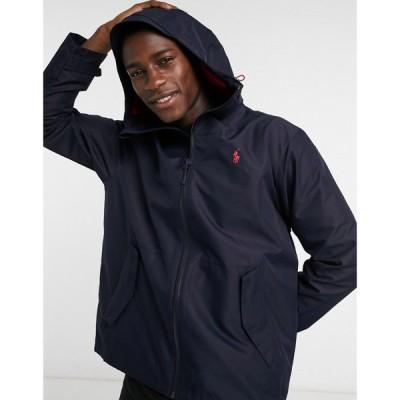 ラルフ ローレン Polo Ralph Lauren メンズ ジャケット フード シェルジャケット アウター player logo hooded shell jacket in navy ネイビー