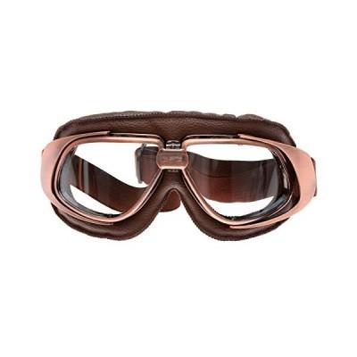 MUXSAM オートバイ ゴーグル ヘルメット眼鏡 パンク ヴィンテージレトロ 曇り止め 耐衝撃 uvカット バイク サイク