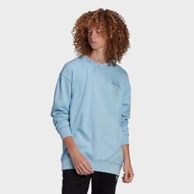 アディダス メンズ スウェットシャツ adidas Originals Overdyed Crewneck Sweatshirt トレーナー Clear Sky