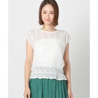 MEW'S REFINED CLOTHESレースブラウジングブラウス【お取り寄せ商品】