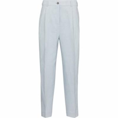 アクネ ストゥディオズ Acne Studios レディース クロップド ボトムス・パンツ cropped linen and cotton pants Ice Blue