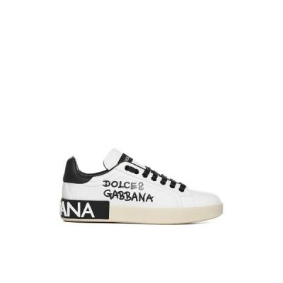 ドルチェ&ガッバーナ レディース スニーカー シューズ Dolce & Gabbana Logo Print Low-Top Sneakers -