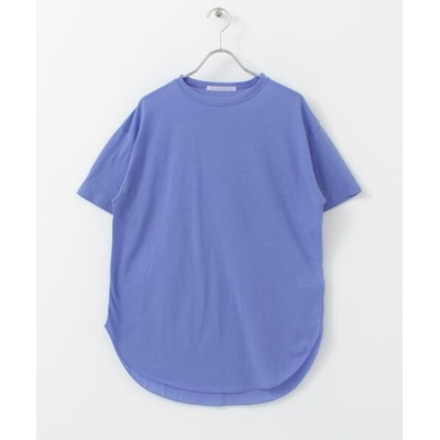 KBF/ケービーエフ クルーネックシアーTシャツ BLUE one