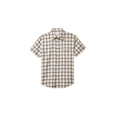 ラッキーブランド Plaid Monroe Short Sleeve Shirt メンズ シャツ トップス Yellow Plaid