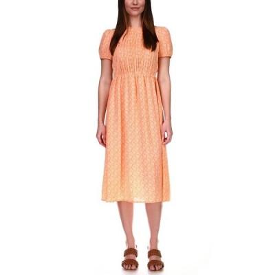 マイケルコース ワンピース トップス レディース Pintuck Paisley-Print Midi Dress Nectarine