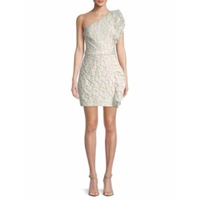 モニークリュエリエ レディース ワンピース Ruffle Jacquard One-Shoulder Mini Dress
