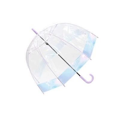 傘 長傘 ビニール傘 かわいい レディース 65cm ドーム型 オーロラ 丈夫 かわいい ドーム 耐風 パステル グラスフ?
