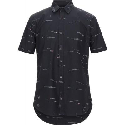 デジグアル DESIGUAL メンズ シャツ トップス solid color shirt Black
