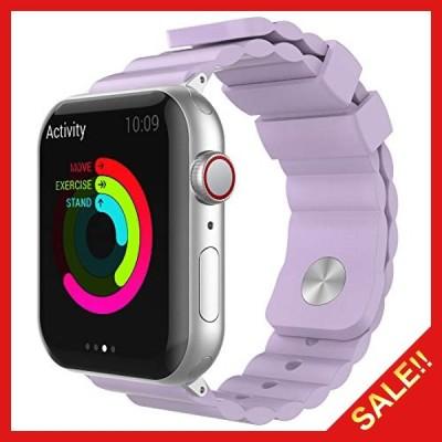 AhaStyle Apple Watch 交換用 バンド シリコン製 iWatch 38mm 40mm 42mm 44mm, Apple Watch Series 6, Series 5, Series 4, Series 3, Series 2, Ser