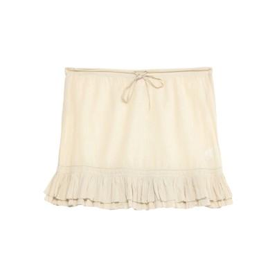 SCEE by TWINSET ミニスカート ベージュ M コットン 100% ミニスカート