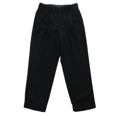 ARROW スラックス ツータック パンツ 無地 ブラック サイズ表記:30×30