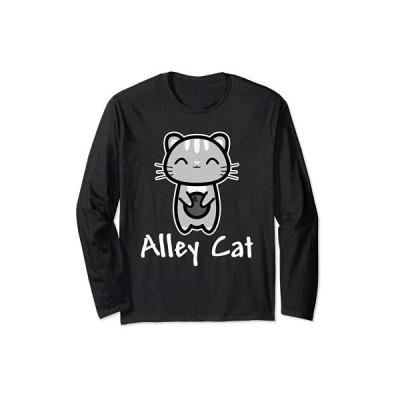 路地猫ボウリングかわいいキティ恋人ボウラー 長袖Tシャツ