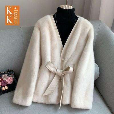 レディース秋冬毛皮コートファーコートトレンドレディースコートフェイクファージャケット 暖かいアウター