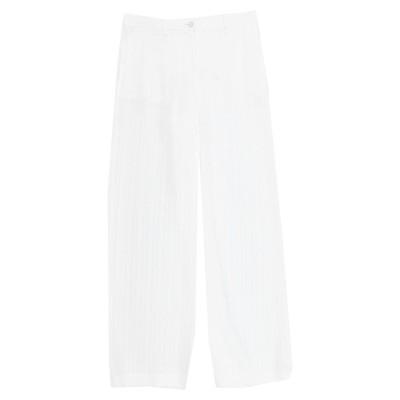 QL2  QUELLEDUE パンツ ホワイト 44 リネン 65% / レーヨン 35% パンツ