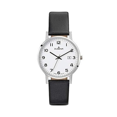 Dugena Men's Analogue Quartz Watch with Leather Strap 4460737 並行輸入品