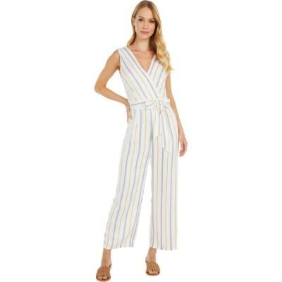 ビービーダコタ BB Dakota レディース オールインワン ジャンプスーツ ワンピース・ドレス Know Your Stripe Printed Rayon Jumpsuit Ivory