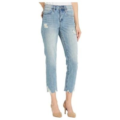 ブランクニューヨーク レディース デニムパンツ ボトムス The Madison Crop Denim Jeans with Destructed Hem Detail in Risk Taker