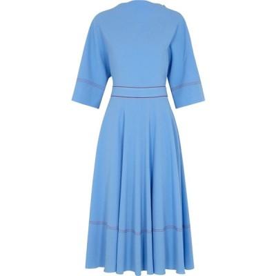 ロクサンダ Roksanda レディース パーティードレス ミドル丈 ワンピース・ドレス Dara Blue Midi Dress Blue