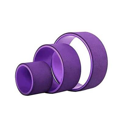 SunEveryday ヨガホイールセット 3パック ヨガバックローラー 筋肉リラクゼーション、ストレッチ、背中の痛み緩和、腰の屈曲、体重のエクササイ