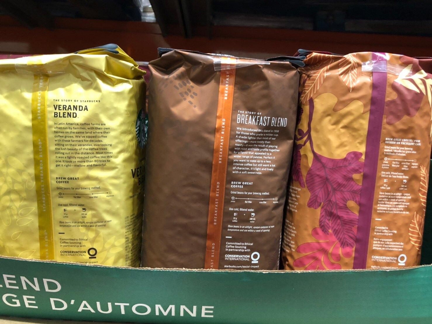 好市多 STARBUCKS 早餐綜合咖啡豆 /派克咖啡豆 1.13kg 星巴克 咖啡 沖泡 咖啡豆 烘焙豆