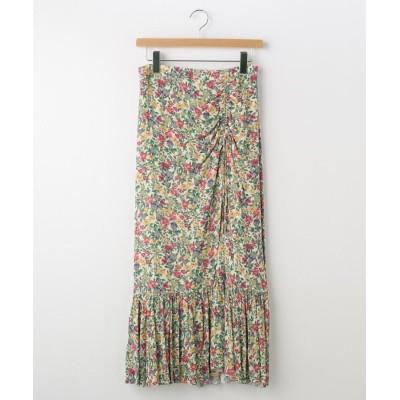 OFF PRICE STORE(Women)(オフプライスストア(ウィメン)) JILLSTUART フラワー柄ギャザーデザインスカート