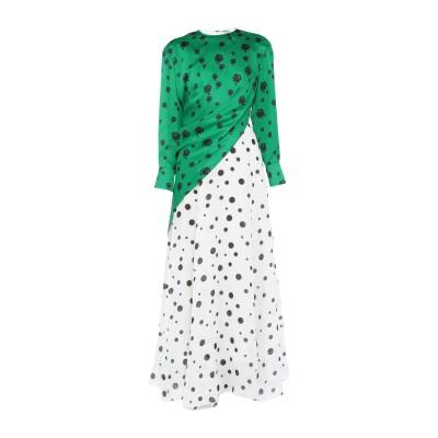 ケンゾー KENZO ロングワンピース&ドレス グリーン 34 麻 100% / ポリエステル ロングワンピース&ドレス