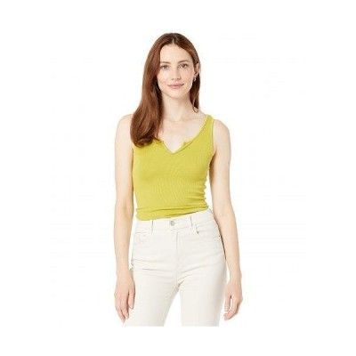 LAmade エルエーメイド レディース 女性用 ファッション トップス シャツ Notch Ribbed Tank Top in 2x1 Modal Rib - Chartreuse