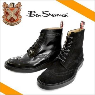 ベンシャーマン キルバーン ● Ben Sherman KILBURN HI [BS11A-HUL051] メンズ ブーツ カジュアル メンズ靴 ブラックスエード ブラックス
