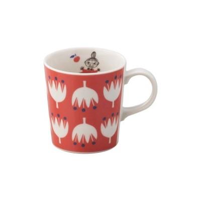 日本製 山加商店 YAMAKA ムーミン MOOMIN マグカップ MM1002-11 リトルミイ 赤色 RD  クッカ kukka 花 フラワー 子供食器 マグ