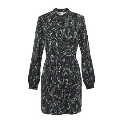 HAUTE HIPPIE ミニワンピース&ドレス ダークグリーン L ポリエステル 100% ミニワンピース&ドレス