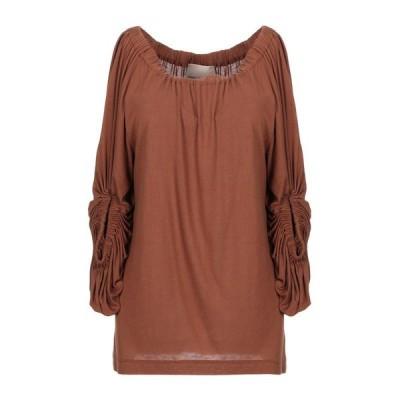 ERIKA CAVALLINI ブラウス ファッション  レディースファッション  トップス  シャツ、ブラウス  長袖 ココア
