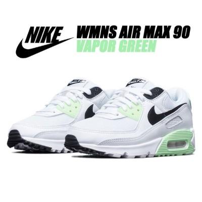 NIKE WMNS AIR MAX 90 white/black-vapor green ct1039-101 ナイキ ウィメンズ エアマックス 90 レディース スニーカー AM90 ホワイト グリーン