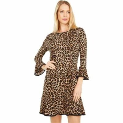 マイケル コース MICHAEL Michael Kors レディース ワンピース ワンピース・ドレス Petite Cheetah Flounce Dress Dark Camel