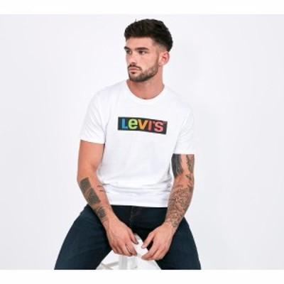 リーバイス Levis メンズ Tシャツ トップス set-in neck 2 logo t-shirt White/Multi