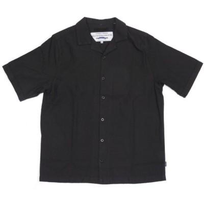 アフェンズ 半袖 ハリウッド オープンカラー シャツ ブラック スケート サーフ メンズ AFENDS HOLLYWOOD S/S SHIRTS BLACK