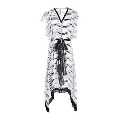 ピアヌラストゥーディ�� PIANURASTUDIO ミニワンピース&ドレス ホワイト 38 シルク 100% / レーヨン / ポリウレタン /