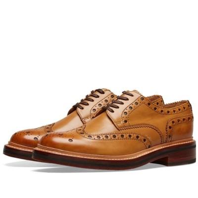 グレンソン Grenson メンズ 革靴・ビジネスシューズ メダリオン シューズ・靴 Archie Brogue Tan Calf