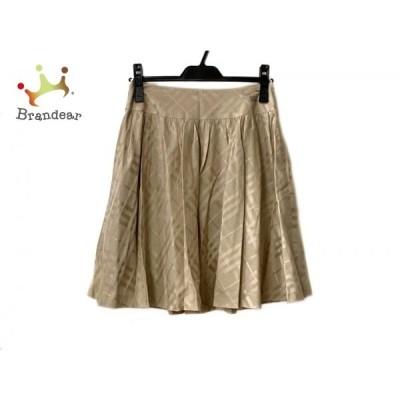 バーバリーブルーレーベル スカート サイズ38 M レディース 美品 ベージュ チェック柄 新着 20200602