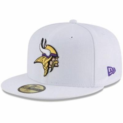 New Era ニュー エラ スポーツ用品  New Era Minnesota Vikings White Omaha 59FIFTY Fitted Hat