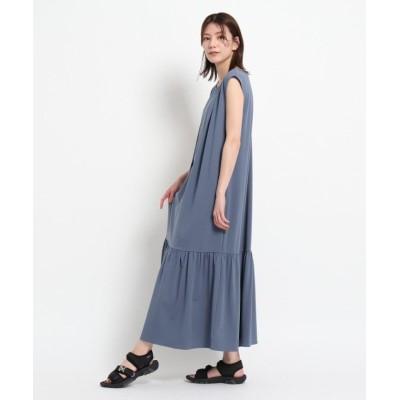 【デッサン】 裾ティアードカットジョーゼットワンピース レディース ブルー 02(M) Dessin