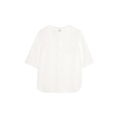 IRIS & INK T シャツ ホワイト 4 レーヨン 61% / アセテート 39% T シャツ