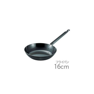 SA鉄黒皮厚板フライパン 16cm AHL20016 5-0081-0301 4905001008122 (IH対応) JAN: 4905001008122(配送日指定)