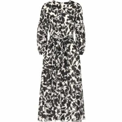 マックスマーラ S Max Mara レディース ワンピース ミドル丈 ワンピース・ドレス Gru floral cotton midi dress