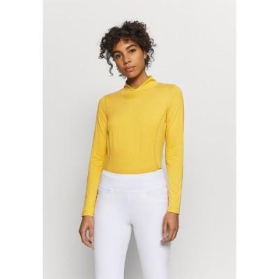 デイリースポーツ カットソー レディース トップス AGNES MOCK NECK - Long sleeved top - amber
